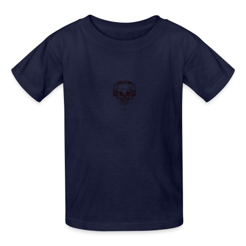 music skull head - Kids' T-Shirt