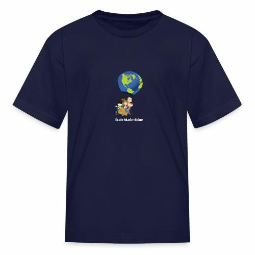 Logo École Marie-Reine texte blanc - T-shirt classique pour enfants