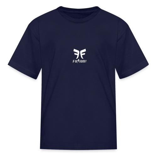 Fusion Logo White - Kids' T-Shirt