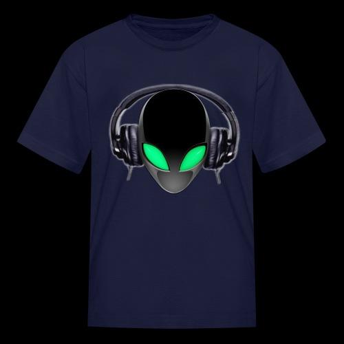 Alien Music Lover DJ (Simplified Fit All Design) - Kids' T-Shirt