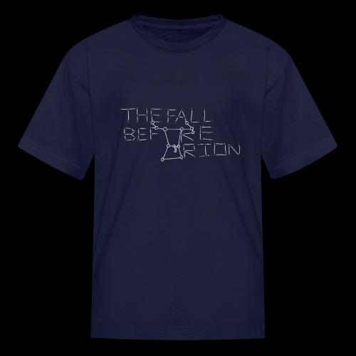The Fall Before Orion Logo (White) - Kids' T-Shirt