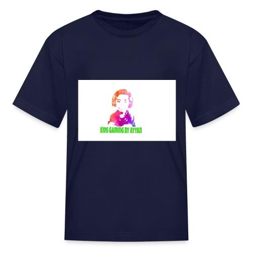 Kids t shirt of kids gaming by Ayyan logo - Kids' T-Shirt
