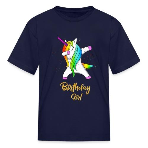 unicorn birthday girl - Kids' T-Shirt