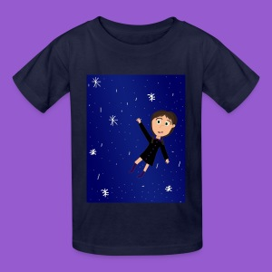 flying space girl - Kids' T-Shirt