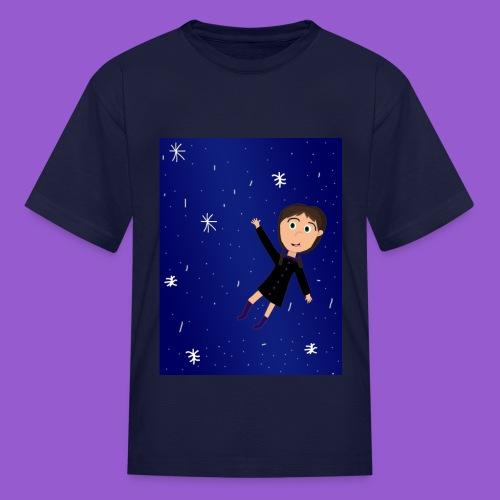 flying space girl - Kids' T-Shirt