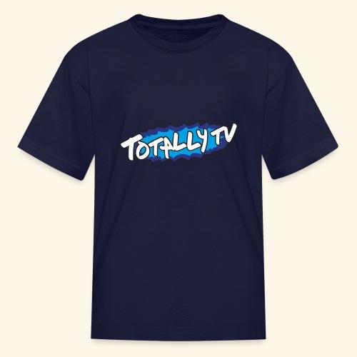 Totally TV Burst Logo Blue on Blue - Kids' T-Shirt