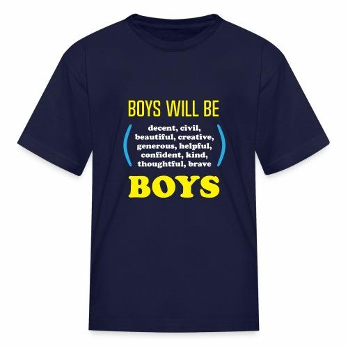 boy tee final - Kids' T-Shirt