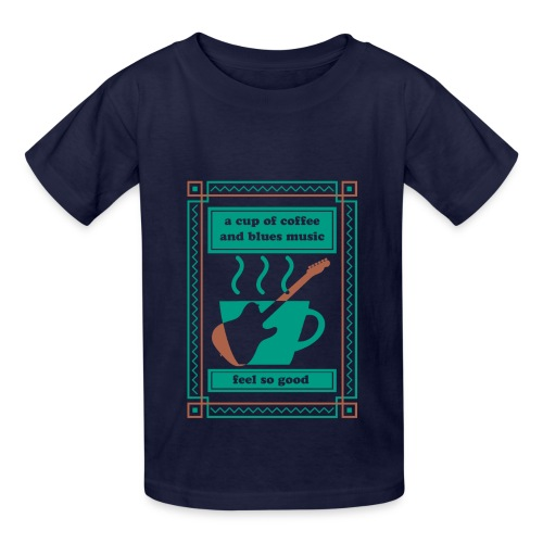 Coffee n Blues - Kids' T-Shirt