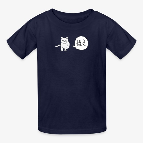 talk whit the cat - Kids' T-Shirt