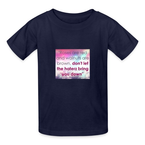 Haterz quote print - Kids' T-Shirt