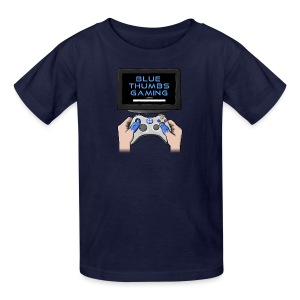 Blue Thumbs Gaming: Gamepad Logo - Kids' T-Shirt