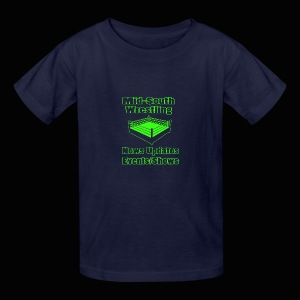 Mid-South Wrestling News Neon/Lime Green - Kids' T-Shirt