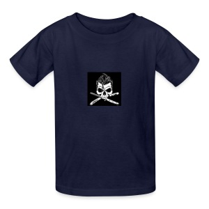 Greaser skull - Kids' T-Shirt