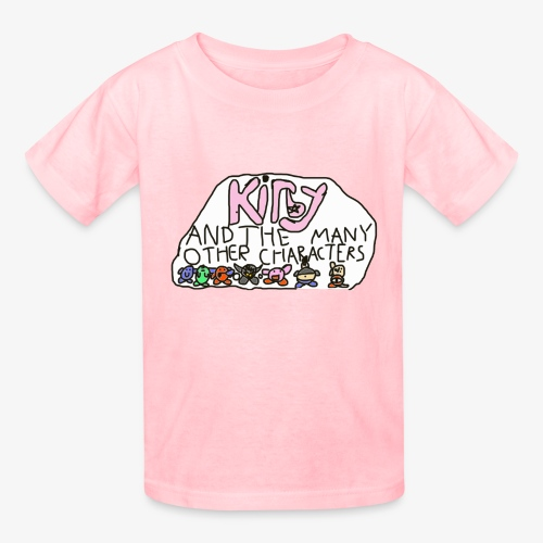 Kirby and the many other characters - Kids' T-Shirt
