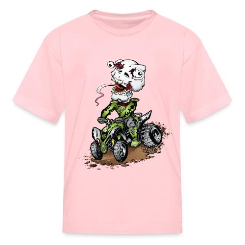 ATV Quad Crazy Skully - Kids' T-Shirt