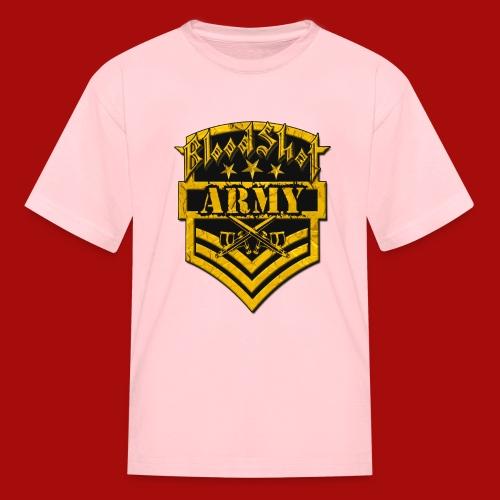 BloodShot ARMYLogo Gold /Black - Kids' T-Shirt