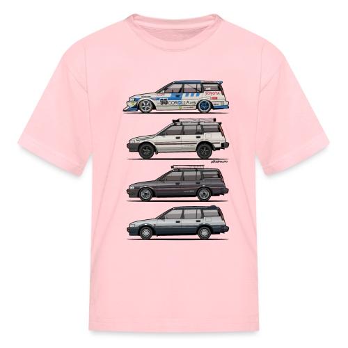 Stack of Toyota Corolla E90 - Kids' T-Shirt