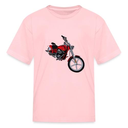 Motorcycle red - Kids' T-Shirt