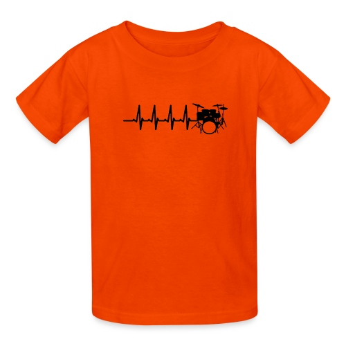 Drums Heartbeat Funny drummer - Kids' T-Shirt