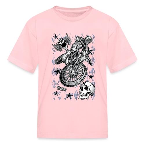 Motocross Dirt Bike Grunge Shirt - Kids' T-Shirt