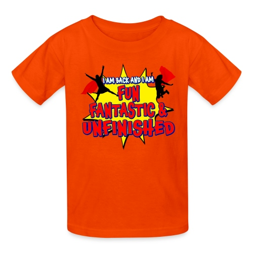 Unfinished girls jumping - Kids' T-Shirt