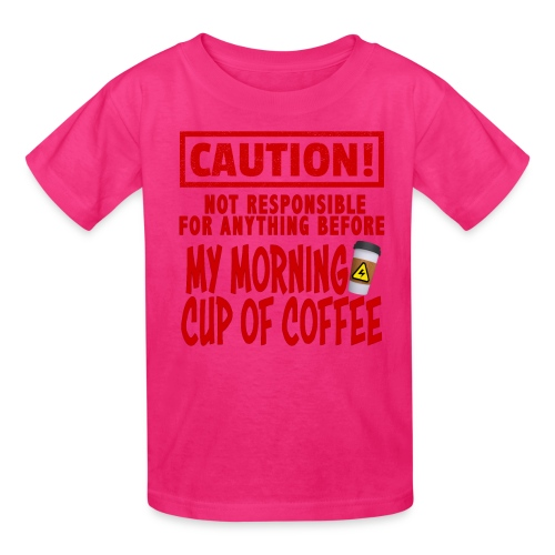 Not responsible for anything before my COFFEE - Kids' T-Shirt
