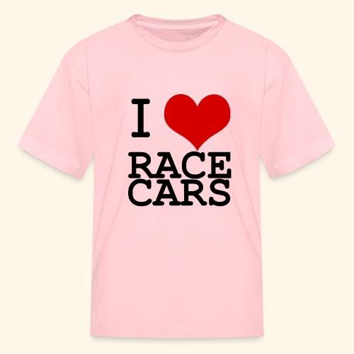 I Love Race Cars - Kids' T-Shirt