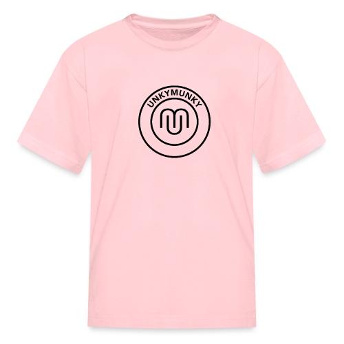 UnkyMunky Logo black - Kids' T-Shirt