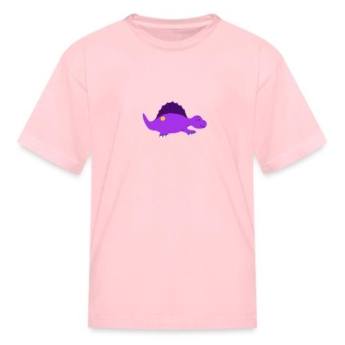 Cute Purple Stegosaurus - Kids' T-Shirt