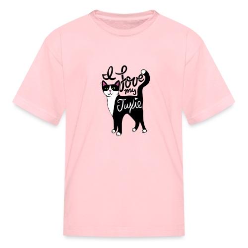 I love my tuxedo cat - Kids' T-Shirt