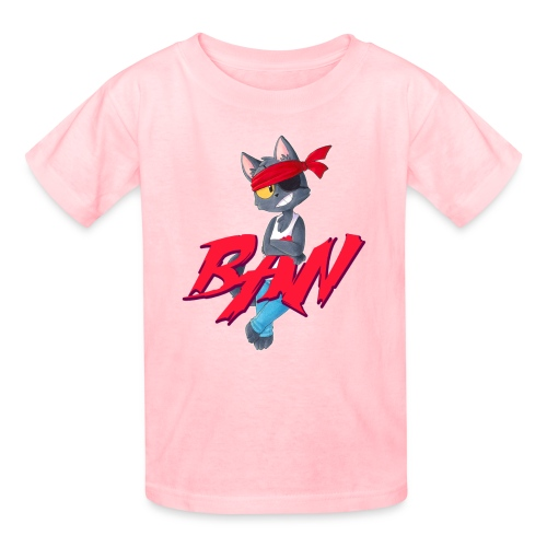 Ban t-shirt white outline - Kids' T-Shirt