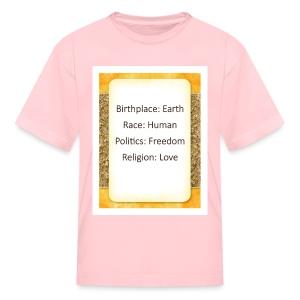 Earth Human Freedom Love - Kids' T-Shirt