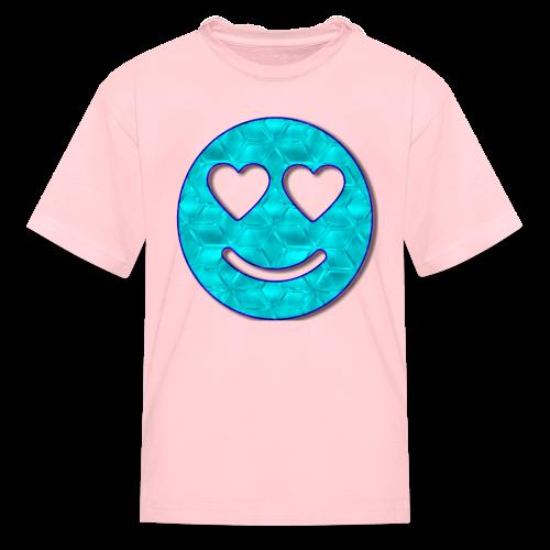 Smiley Love-Blue - Kids' T-Shirt