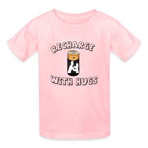 Recharge with hugs - Kids' T-Shirt