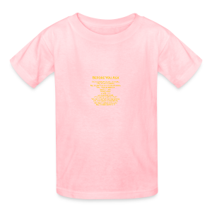tshirt_pilotVersion_nologo_gold - Kids' T-Shirt