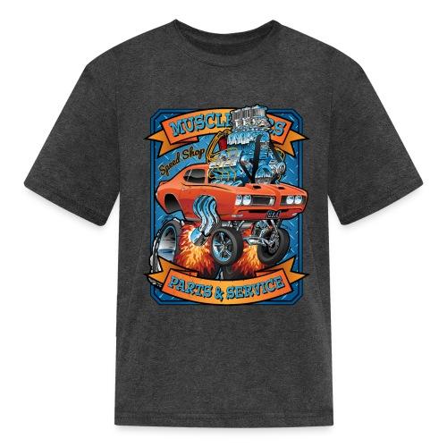 Classic Sixties Muscle Car Parts & Service Cartoon - Kids' T-Shirt
