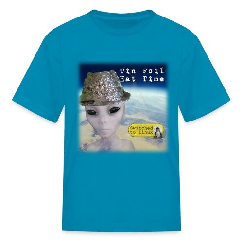 Tin Foil Hat Time (Earth) - Kids' T-Shirt