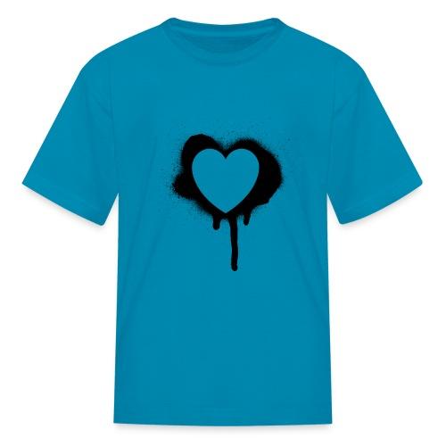 graffiti valentine's day heart - Kids' T-Shirt