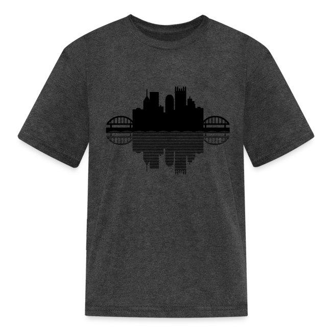 Pittsburgh Skyline Reflection (Black)