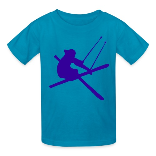 Freestyle Skier - Kids' T-Shirt