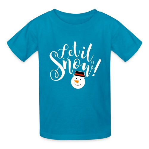 Let It Snow - Holiday Design - Kids' T-Shirt