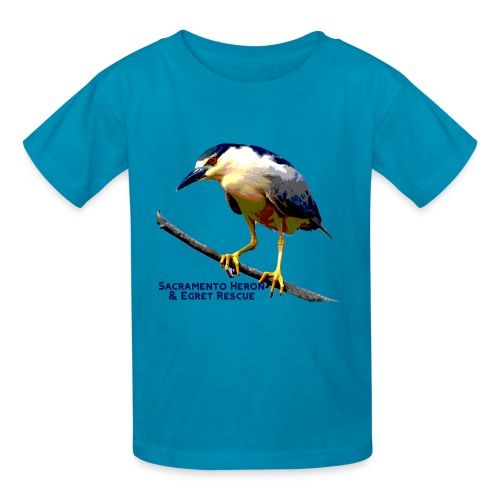 Black crowned Night Heron - Kids' T-Shirt
