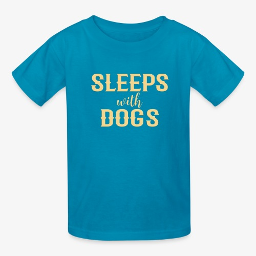 Sleeps With Dogs - Kids' T-Shirt
