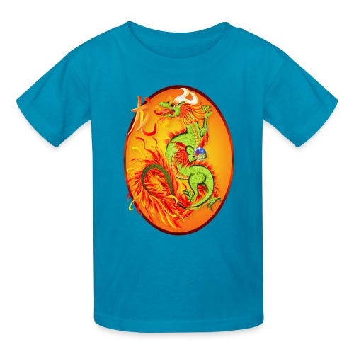 New Year Dragon and Symbol Oval - Kids' T-Shirt