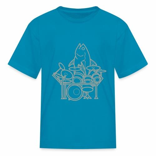 fishsolooutline - Kids' T-Shirt