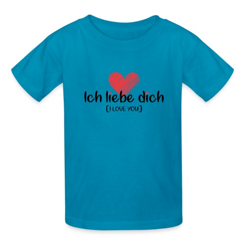Ich liebe dich [German] - I LOVE YOU - Kids' T-Shirt