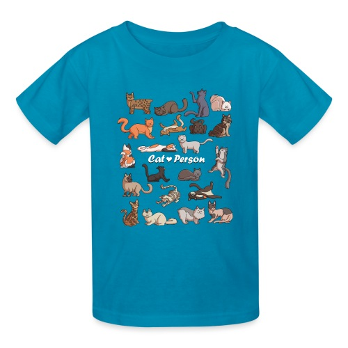 Cat Person T-shirt - Kids' T-Shirt