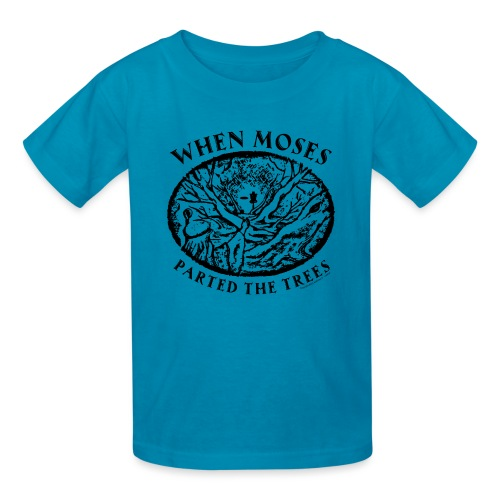 When Moses Parted the Trees Disc Golf Shirts Gifts - Kids' T-Shirt