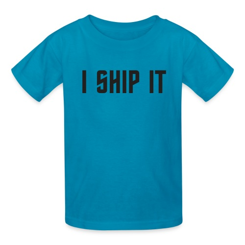 I Ship It Trek Shirt - Kids' T-Shirt