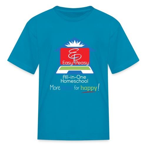 EZPZ Logo All-in-One Homeschool and Tagline - Kids' T-Shirt